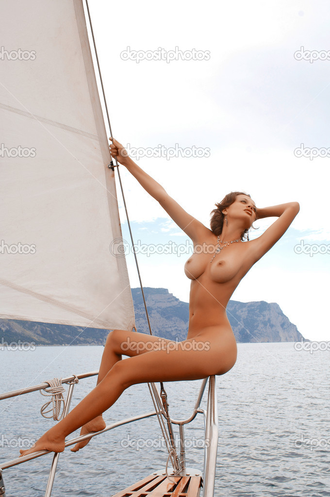nude woman on yacht