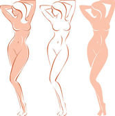 Beautiful nude woman — Vector de stock
