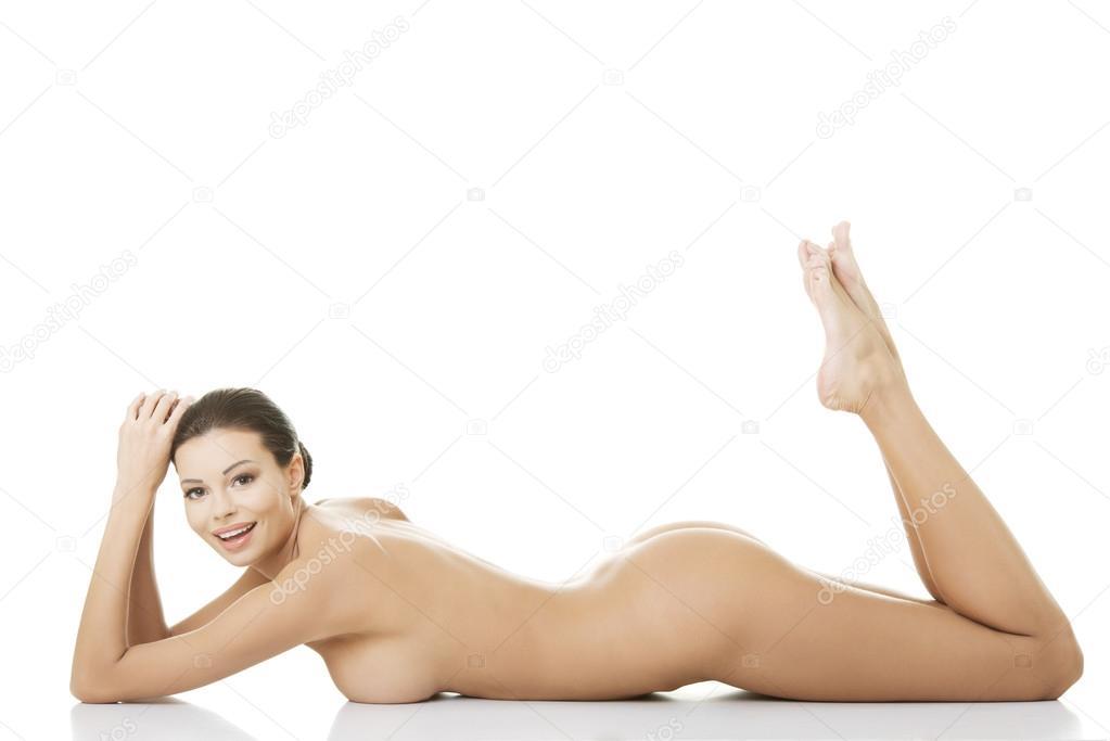 liggande naken kvinna