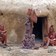 Himba family, Namibia — Stock Photo
