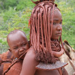Himba woman with baby — Stock Photo