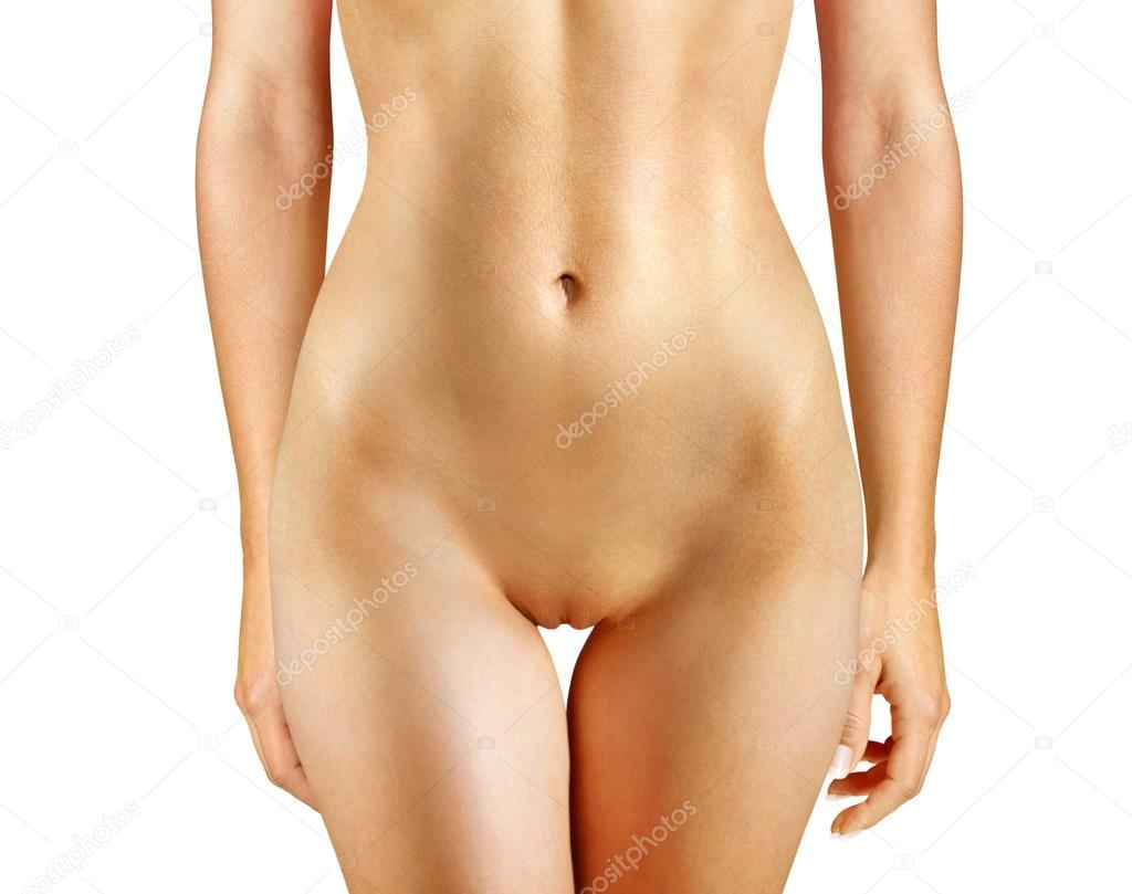 Part Of Beautiful Nude Woman Isolated On White Background