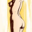 Drawing of body — Stock Photo #43031609