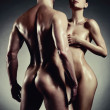 Foto Stock: Nude sensual couple