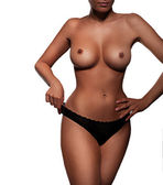 Torso of a beautiful topless woman — Stock Photo