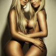 Two beautiful nudes girls — Stock Photo