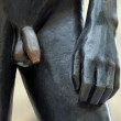 Nude male statue — Stock Photo