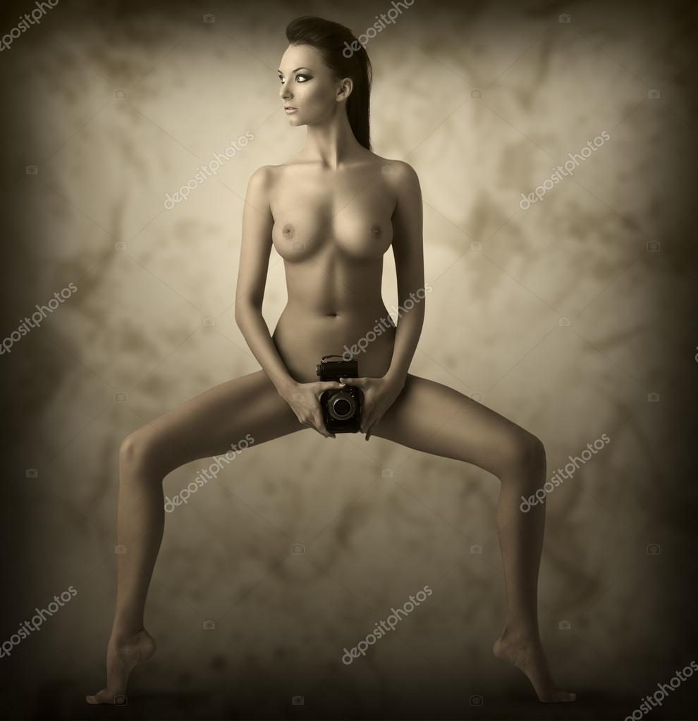 stock illustration naked girl
