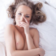 Stock Photo: Portrait of sensual topless woman