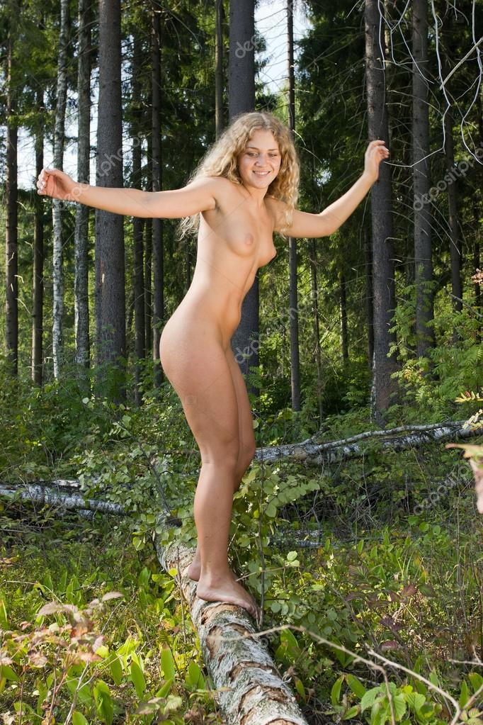 Beautiful Nude Girl Naked Young Woman In The Park