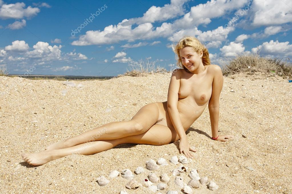 Beautiful Nude Girl Naked Young Woman On The Beach