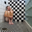 Man in shower. — Stock Photo