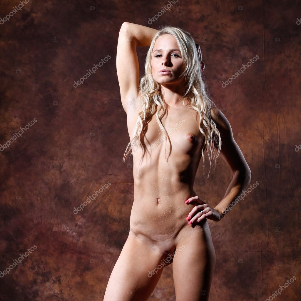 gray haired nude woman
