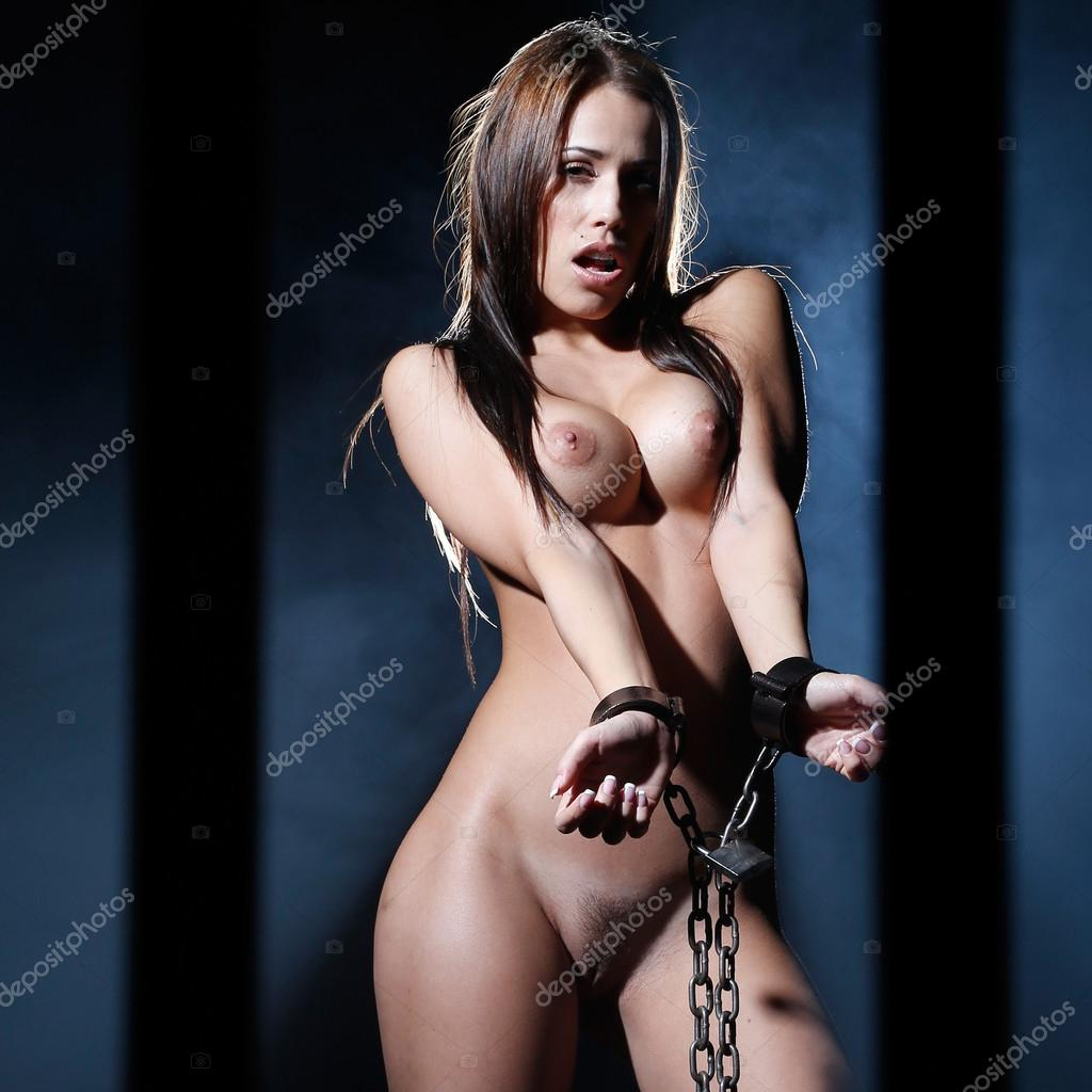Nude chained art pron scene