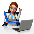 Stock Photo: Doctor with computer