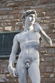 Replica of Michelangelo's David — Stock Photo