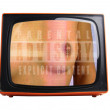 Stock Photo: Orange tv
