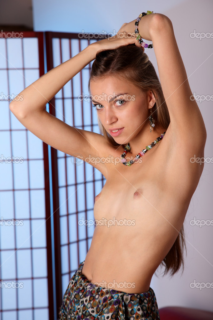 Sexy girl with nude tits