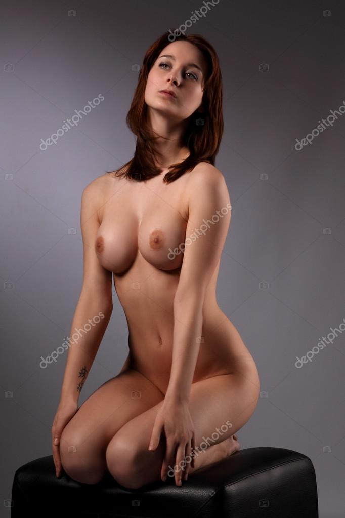 Not nude girl sitting on bar stool this magnificent