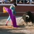 The Spanish bullfighter David Valiente Bullfight at Beas de Segura bullring — Stock Photo