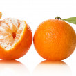 Stock Photo: Orange on white background