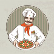 Stock Vector: Italian chef