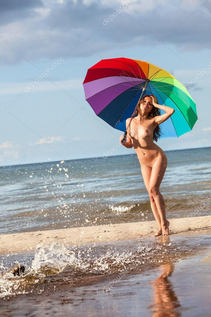 Naked with an umbrella — 9