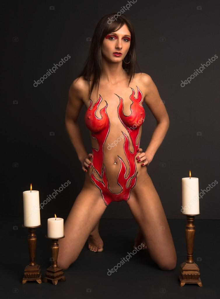 lingere body painting gallery